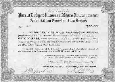UNIA Construction Loan certificate