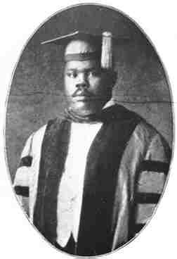 Marcus Garvey in ceremonial robe