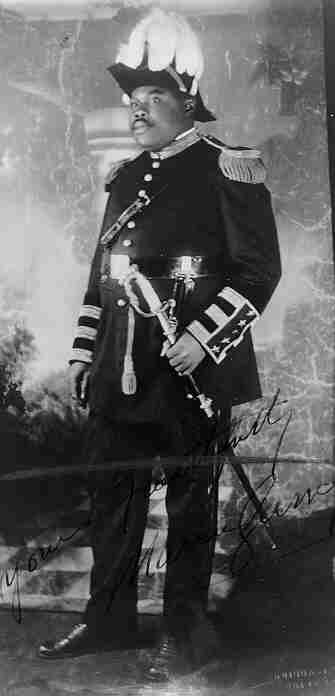 Marcus Garvey as commander in chief of the Universal African Legion