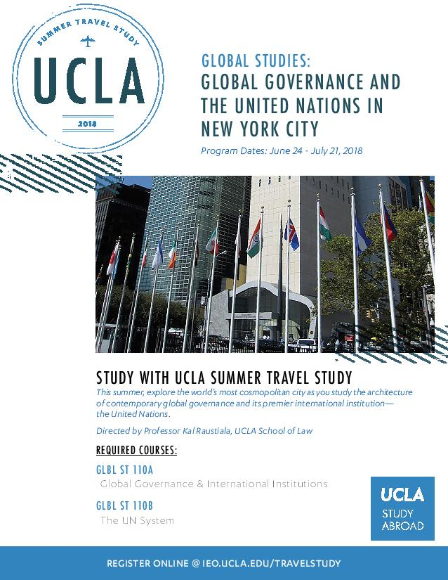 Summer Travel Study: Global Studies with Professor Kal Raustiala
