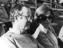 Malcolm and Ann Kerr in the bleachers at the AUB field.