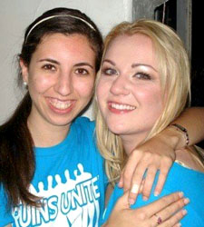 Katya (right) with good friend Marwa Kaisey, then student body president and fellow Bruins United participant.