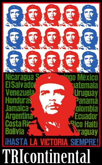 "Cuban poster featuring Che Guevara used to advertise the Tricontinental Conference in 1966. The poster was created by the Organization of Solidarity with the People of Asia, Africa and Latin America. (<a href=""http://bit.ly/34mh3o3"">Image via Wikipedia</a>.) Public domain."