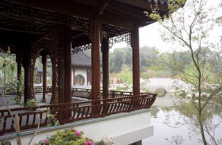 Architecture and Furniture in a Chinese Garden