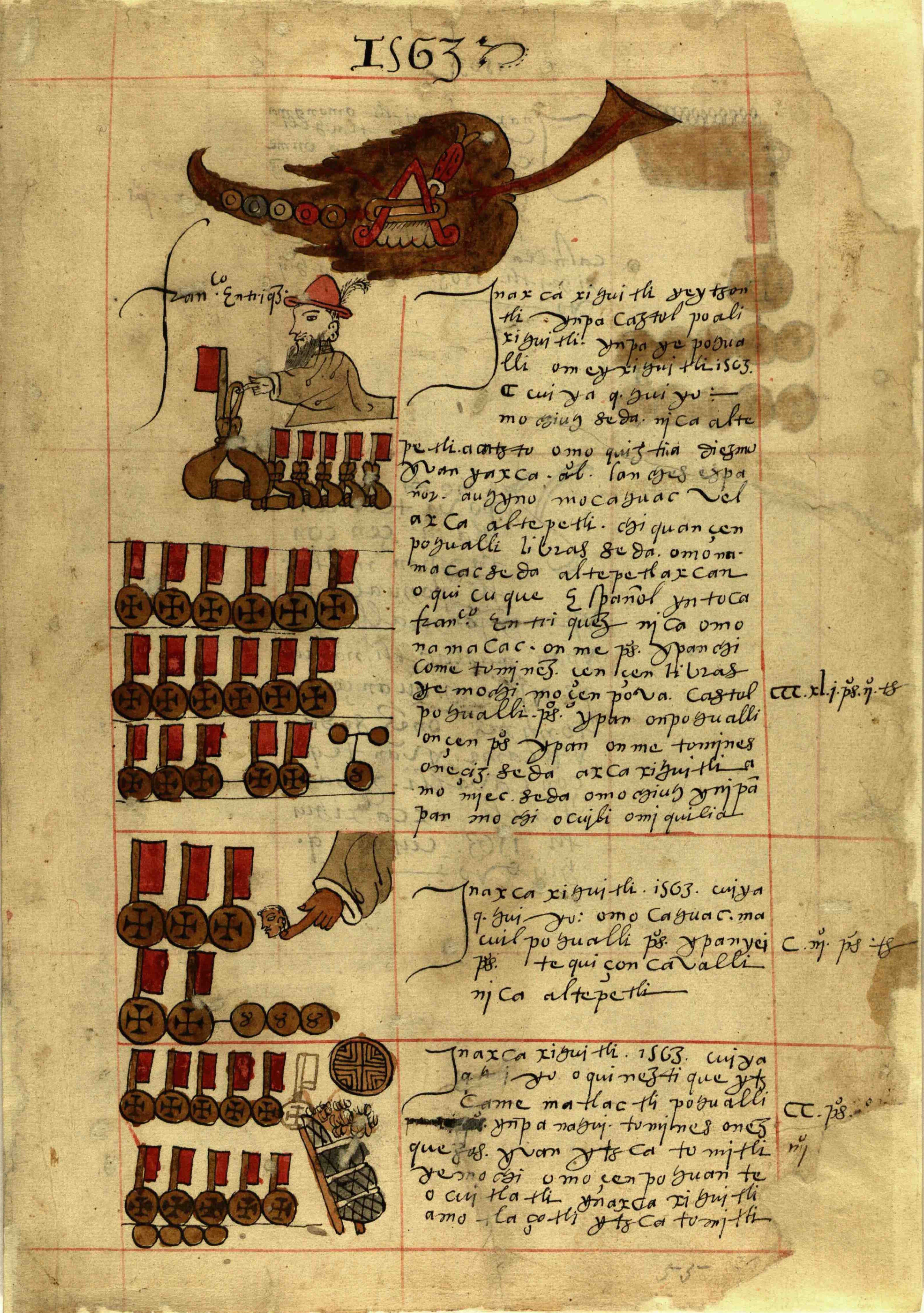 Image from the Codex Sierra Texupan. Courtesy of Biblioteca Histórica José María Lafragua de la Benemérita Universidad Autónoma de Puebla, Mexico.
