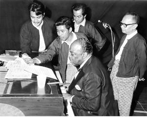 Count Basie rehearses Burmese song