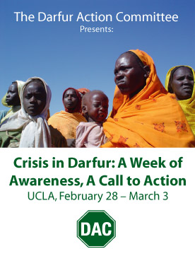 Crisis in Darfur: A Week of Awareness, A Call to Action