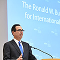 Image for VIDEO AND PODCAST: Arnold C. Harberger Lecture with Treasury Secretary Steven Mnuchin