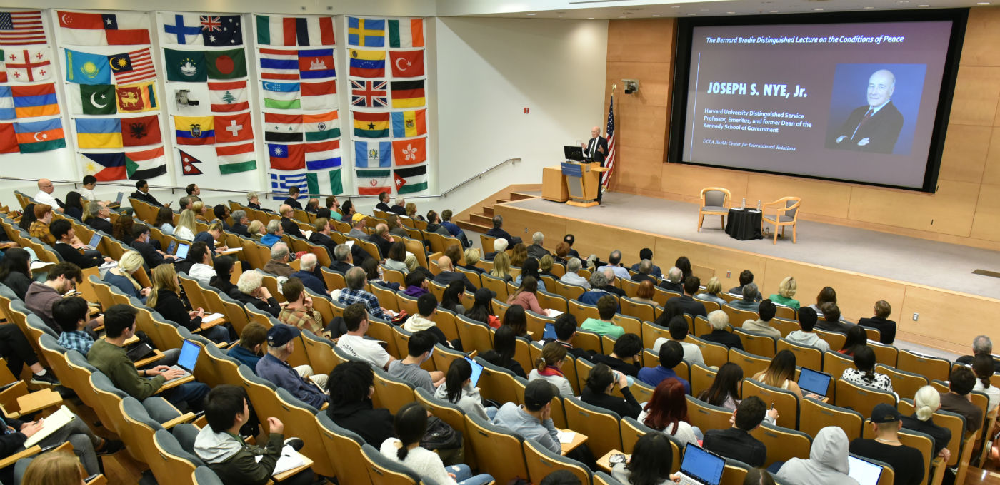 Image for VIDEO AND PODCAST AVAILABLE: Joseph Nye, Harvard University Distinguished Service Professor and former Dean of the Kennedy School of Government, delivered the 2019-20 Bernard Brodie Lecture on the Conditions of Peace