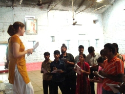 Fouksman taught college students in India to become community activists.