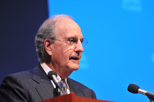 No conflict is beyond resolution, Sen. George Mitchell tells packed house at UCLA