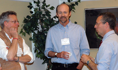 Workshop organizers Kenneth George (Wisconsin), Douglas Hollan (UCLA), and Geoffrey Robinson (UCLA)