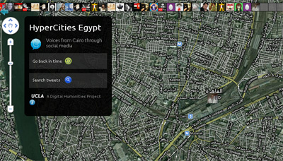 Project Streams Twitter Updates from Egypt Unrest on Digital Map of Cairo