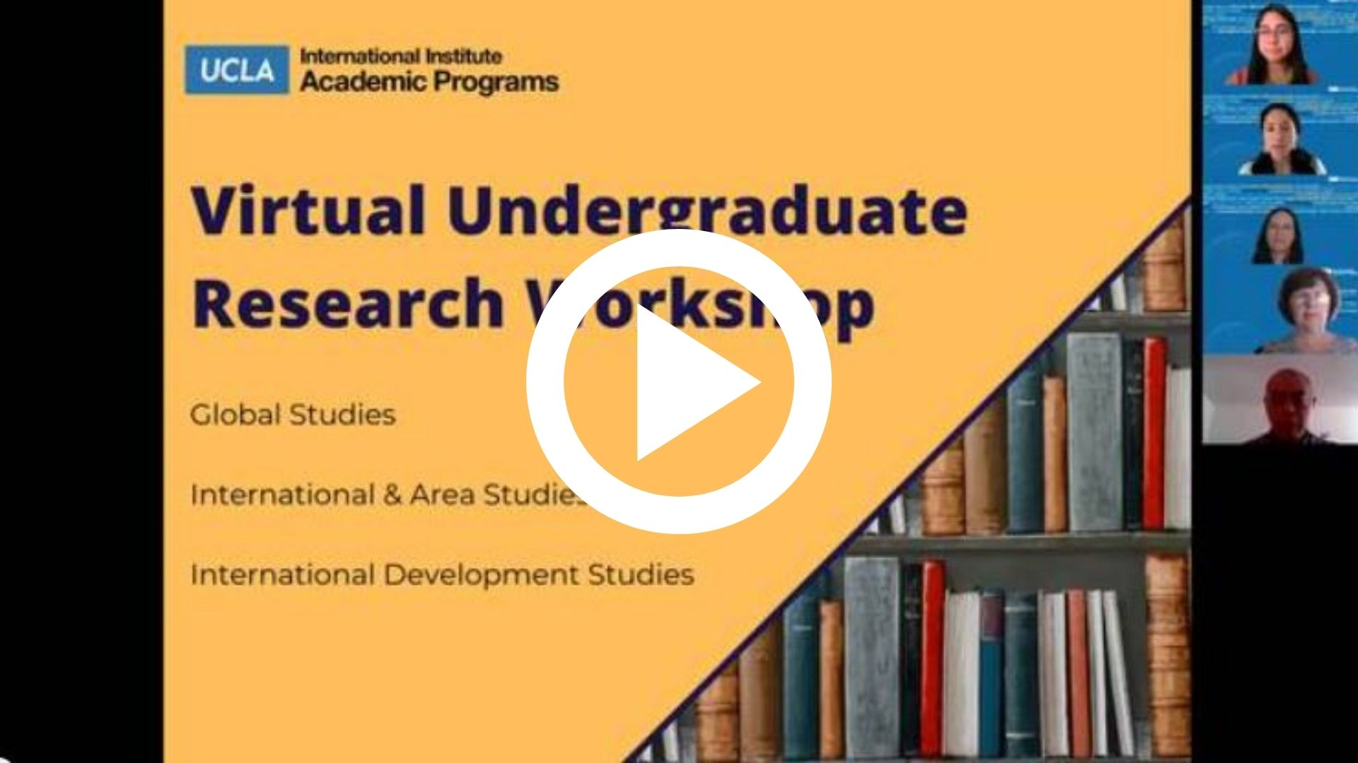 Link to 2021 Virtual Undergraduate Research Workshop Recording