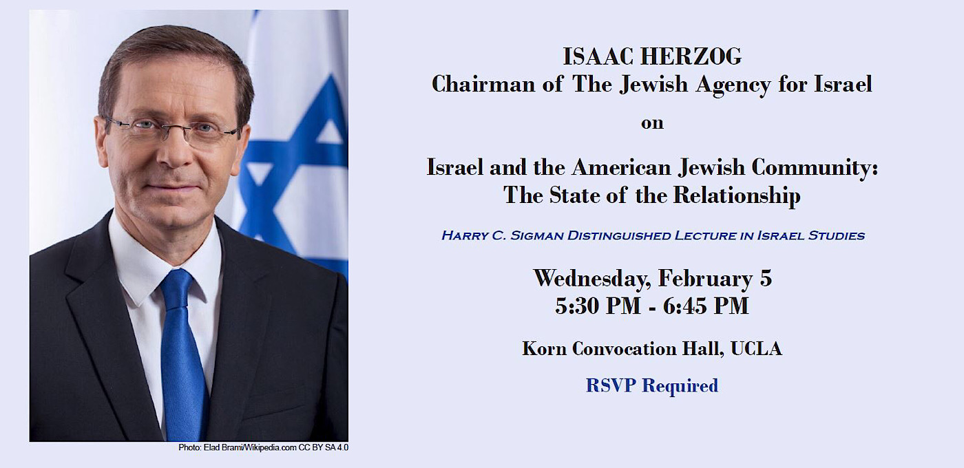 Photo for A Conversation with Isaac Herzog,