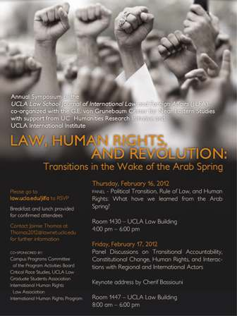 Law, Human Rights, and Revolution: Transitions in the Wake of the Arab Spring