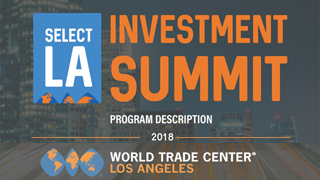 Image for World Trade Center LA to hold investment summit May 23-24