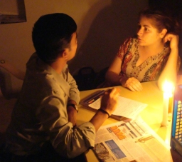 As a Global Exchange Fellow, Fouksman mentored students--sometimes by candlelight--in the Indian state of Karnataka.