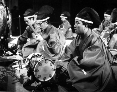 Ethnomusicology's Music of Japan ensemble performs in 1966.