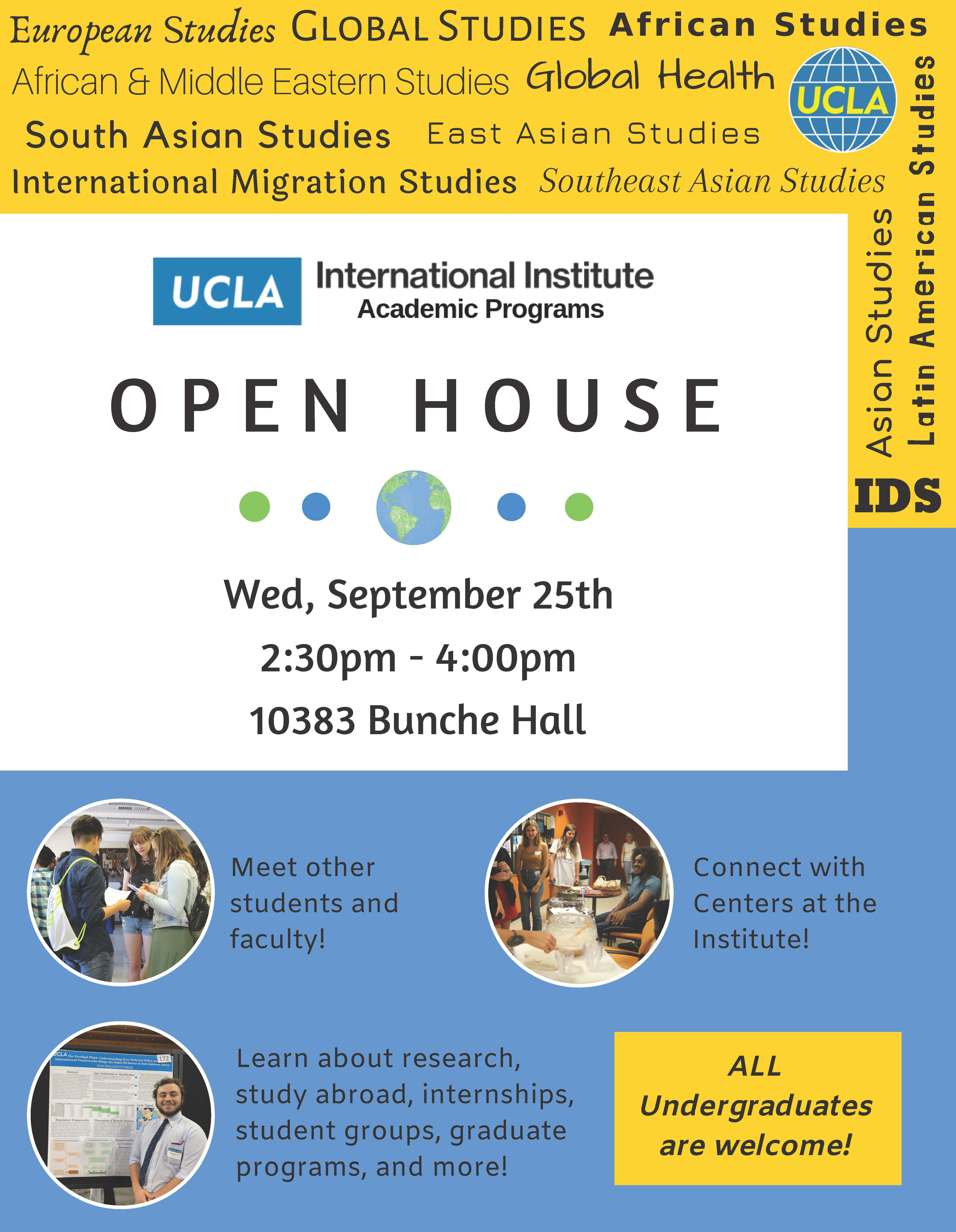 Open House & Fall Reception For Undergraduates