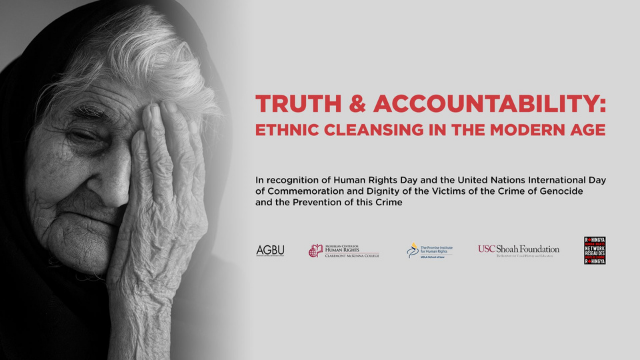 [Non-PAI Event] Truth and Accountability: Ethnic Cleansing in the Modern Age