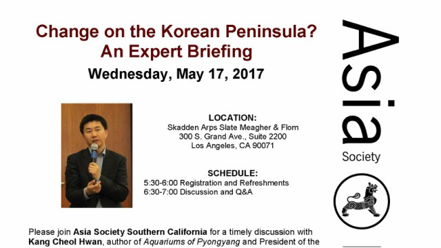 [Non-UCLA Event] Change on the Korean Peninsula?