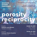 Image for Porosity and Reciprocity: 1st Annual European Languages and Transcultural Studies Graduate Student Conference
