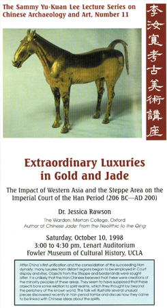 Extraordinary Luxuries in Gold and Jade: The Impact of Western Asia and the Steppe Area on the Imperial Court of the Han Period (206 BC­AD 200)