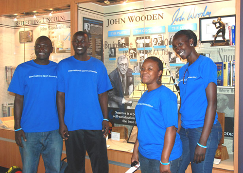 Four Ugandan basketball coaches visit UCLA