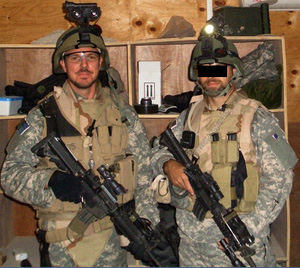 Interrogators attached to a Special Operations task force: Matthew Alexander (left) and 'Mike'