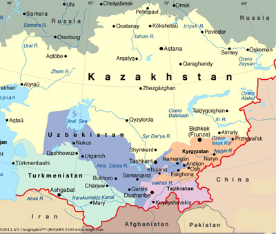 map of iran and neighboring countries. to Iran and Afghanistan