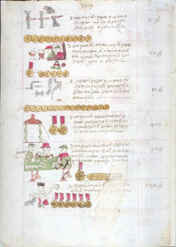 A page from the Codex Sierra, 1550-64.