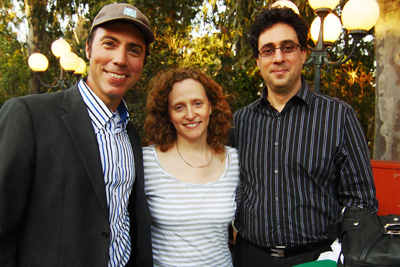Film producer Dan Katzir (left), pictured with Laura R. and Dan Lefkowitz, an associate professor of music at UCLA, joined the discussion of Yeal Katzir's 'Violins in Wartime.'