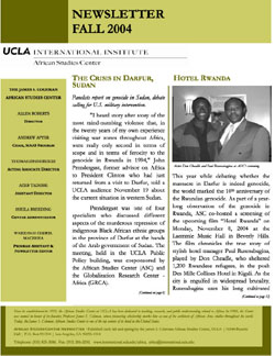 Newsletter Fall 2004