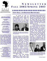 Newsletter Fall 2002 and Spring 2003