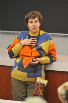 Patricia Isasa at the law school on Oct. 6 (photo by Todd Cheney)