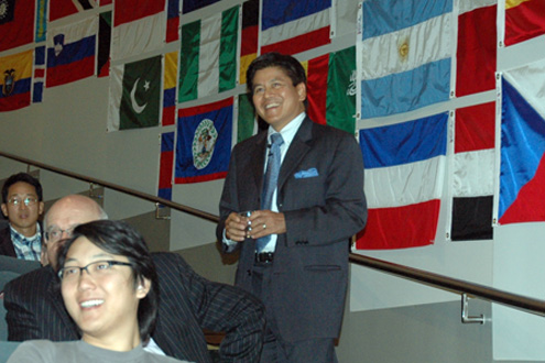 Kantathi Suphamongkhon speaks at the Anderson School in the Marschak Colloquium series last October, concerning his visits to North Korea while in the Thai foreign ministry.