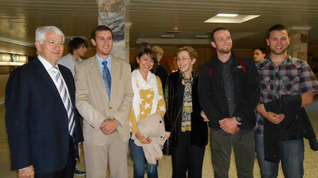 From left to right: Chancellor Block, Dustin Chavkin, Addy Tomova, Olga Kagan, Derek Groom, Sydney Heller.