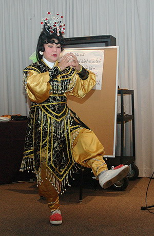 Last Professional Performer in the United States Demonstrates Vietnamese Classical Opera
