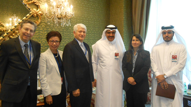 The UCLA delegation with Ambassador Mohamed Abdulla Al-Rumaihi (third from right).