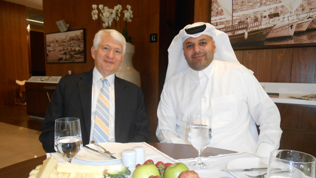 Chancellor Gene Block and Sheikh Abdulla bin Ali Al-Thani.