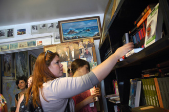 Students inside Heaven Books