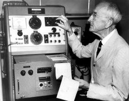 Charles Seeger, research musicologist at the institute, invented a machine to analyze the pitch and timbre of music that couldn't be accurately captured by Western musical notation.
