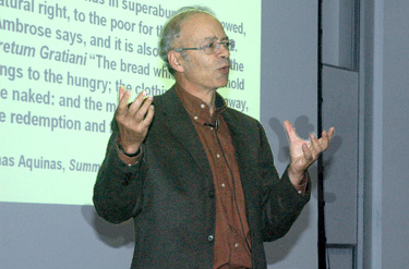Princeton Philosopher Urges Rich to Give More to Poor