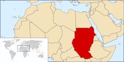 Местоположение Судана.