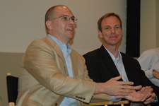 Eric Maddox and Matthew Alexander at Burkle Center speaking engagement