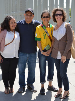 Teachers Jackie Madrid, Ivan Villanueva, Rita Santos-Oyama and Kerry Olinger will spend part of their summer vacations in Brazil for the 2014 World Cup. (Photo: Cynthia Gomez)
